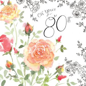 NES19 – 80th Birthday Card For Her